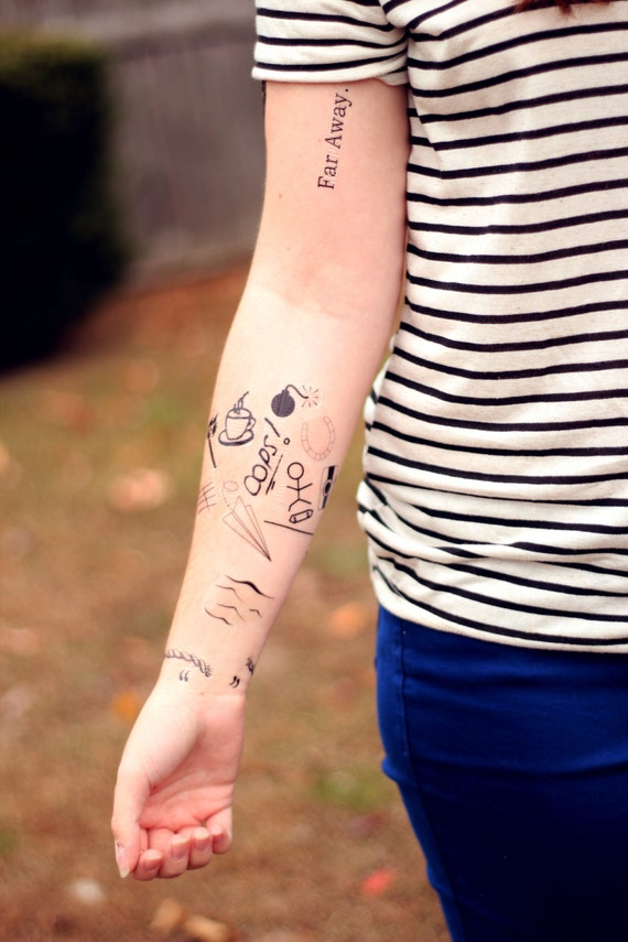 louis tomlinson inspired temporary tattoos by fangirltattoos