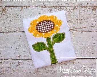 Sunflower 35 Applique embroidery Design - flower Applique Design - fall Applique Design - sunflower Applique Design