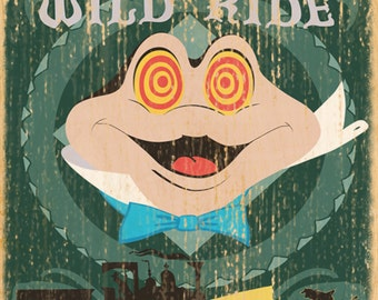 Giclee Printed Mr. Toad's Wild Ride Attraction Poster