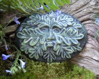 Greenman Statue,Greenman Garden Decor,Woodland Tree Spirit,Greenman Wall Plaque,Greenman Sculpture,Garden Wall Sculpture,Cast Stone