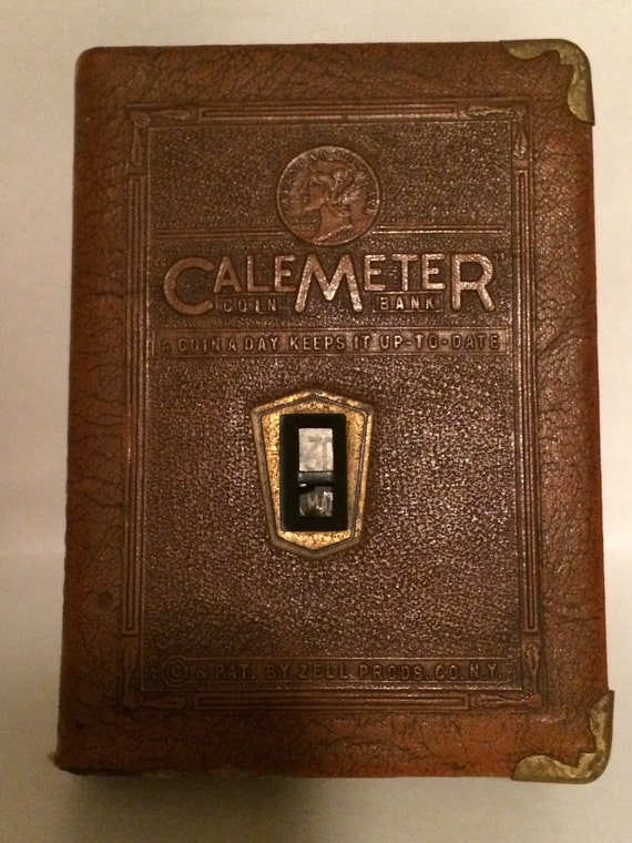 Vintage 1940 S Zell Calemeter Coin Bank A By