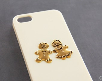 Gingerbread iPhone 5 Case Gingerbread Cookies Stenci iPhone 5 Case iPhone 5c Case Cute Holidays Gift Ideas Girly Beige iPhone Cover