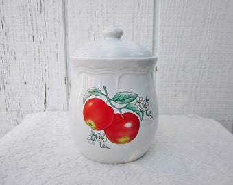 Red Apple Kitchen Decor Cookie Jar Canister photo - 5