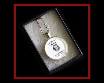 Thumb Print Pendant, Personalized necklace for family keepsake and memories