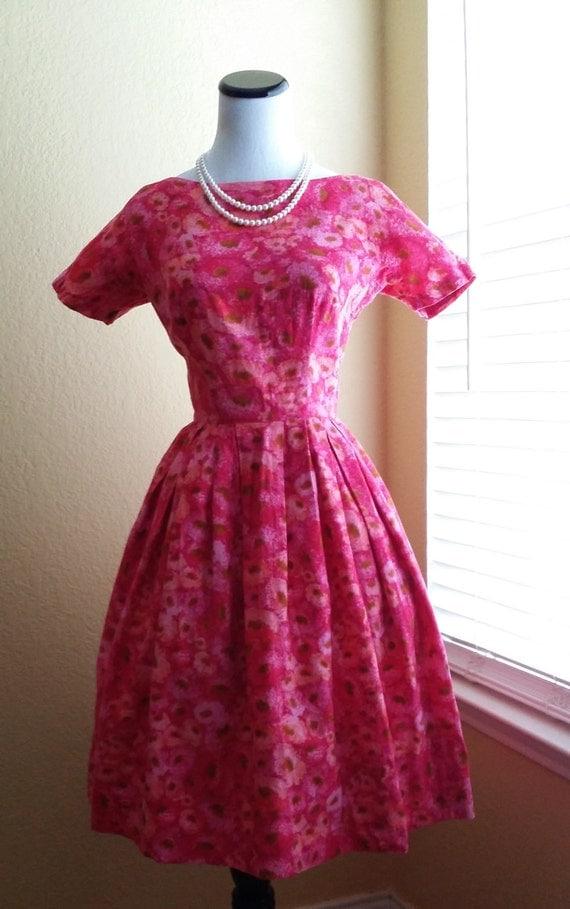 Vintage 60s Pink Floral Peck & Peck Dress - New York