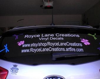 Business Car Decal Etsy - Business car window sticker