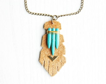 Totem Necklace - Natural - Tribal Aztec