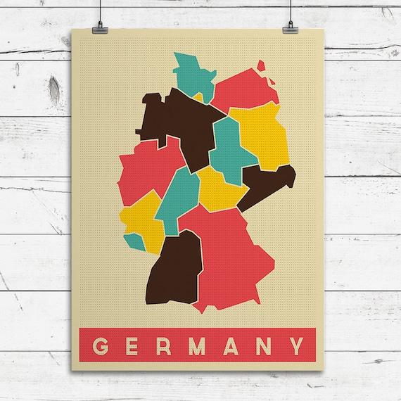 GERMANY Art Print Pop Art Map Modern Style country map