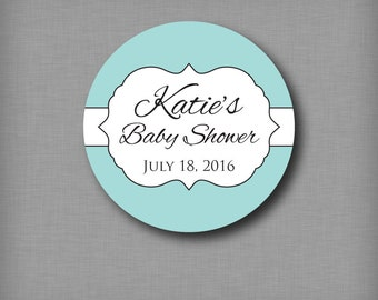 Baby Shower Favor Stickers Girl or Boy Favor Labels Personalized Sticker Label