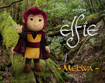 Elfie doll - Melwa, elf doll, rag doll, art doll, custom doll
