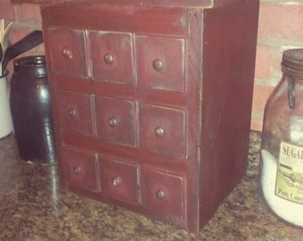 Primitive 9 Drawer Apothecary Appliance Cover