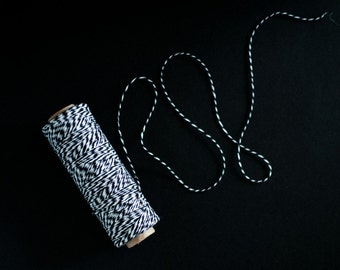 Black Bakers Twine 100yards - Gift wrapping, party favors, wedding decorations.
