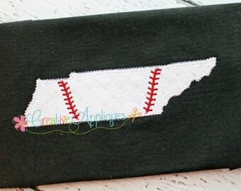 Tennessee Baseball Softball Digital Machine Embroidery Applique Design 4 Sizes