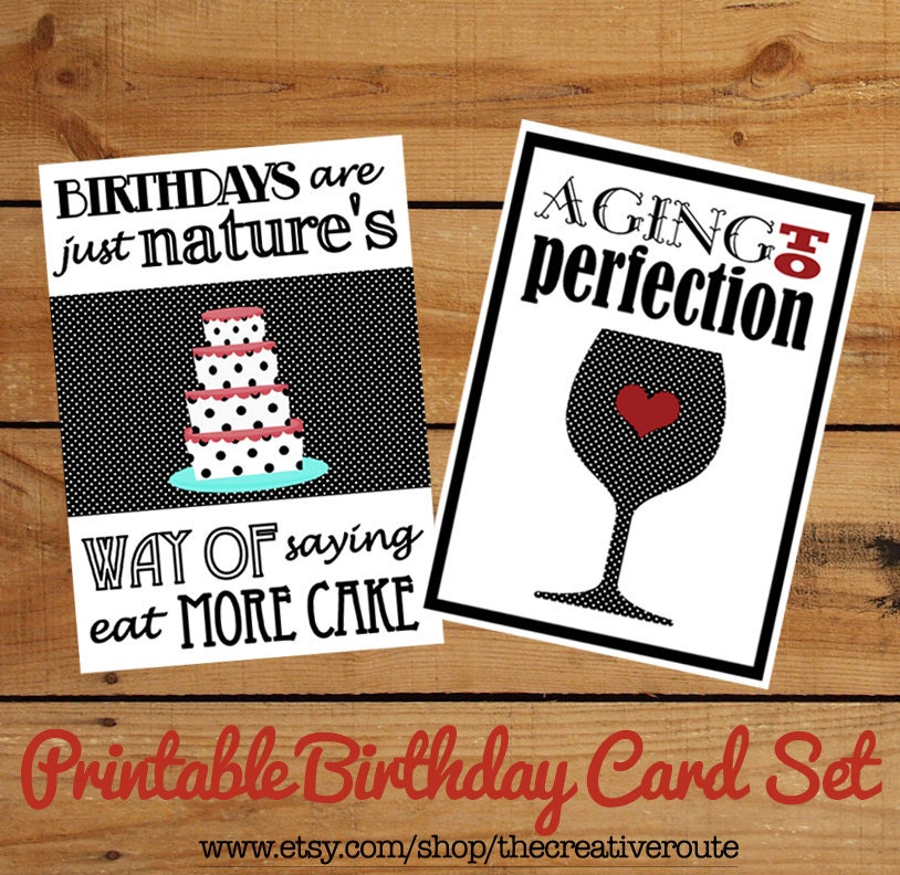 Printable Birthday Cards Funny Birthday Quotes on a set of – Funny Quotes for a Birthday Card