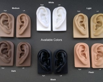 Soft Flexible Model Ear Displays for Acupuncture, Jewelry, Audio Music Recording, Drawing & More