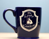 The Leaky Cauldron Harry Potter Inspired  Sandblasted Etched ceramic coffee mug, harry potter gift, three broomsticks gift