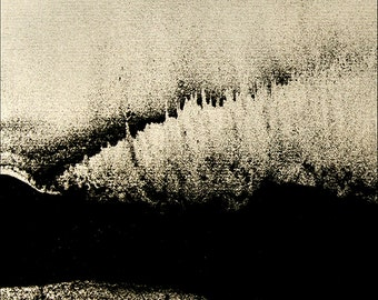 Photo, abstract, in Black and white.. Processing photograph of black and light. Photographic Print.