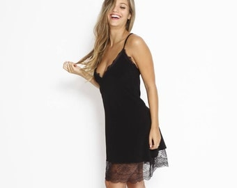 Black Lace Mini Dress