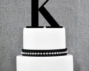 Letter K - Initial Cake Topper, Monogram Wedding Cake Topper, Custom Cake Topper