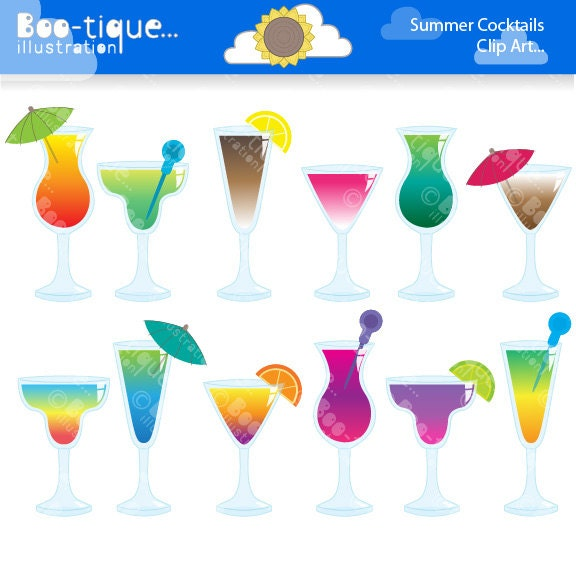 Summer Cocktails Clipart