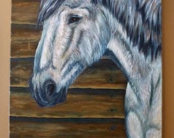 Original Acrylic Horse Painting - Canvas