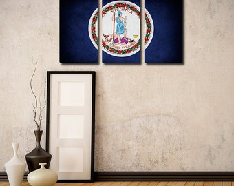 Virginia Flag Triptych (w/ Free Shipping!)