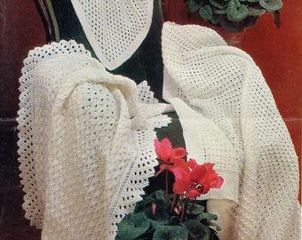 Baby Shawls, PDF Vintage Knitting Pattern No. 8216