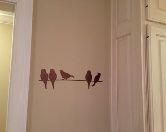 Lovely Birds On A Wire Metal Wall Art Part 5
