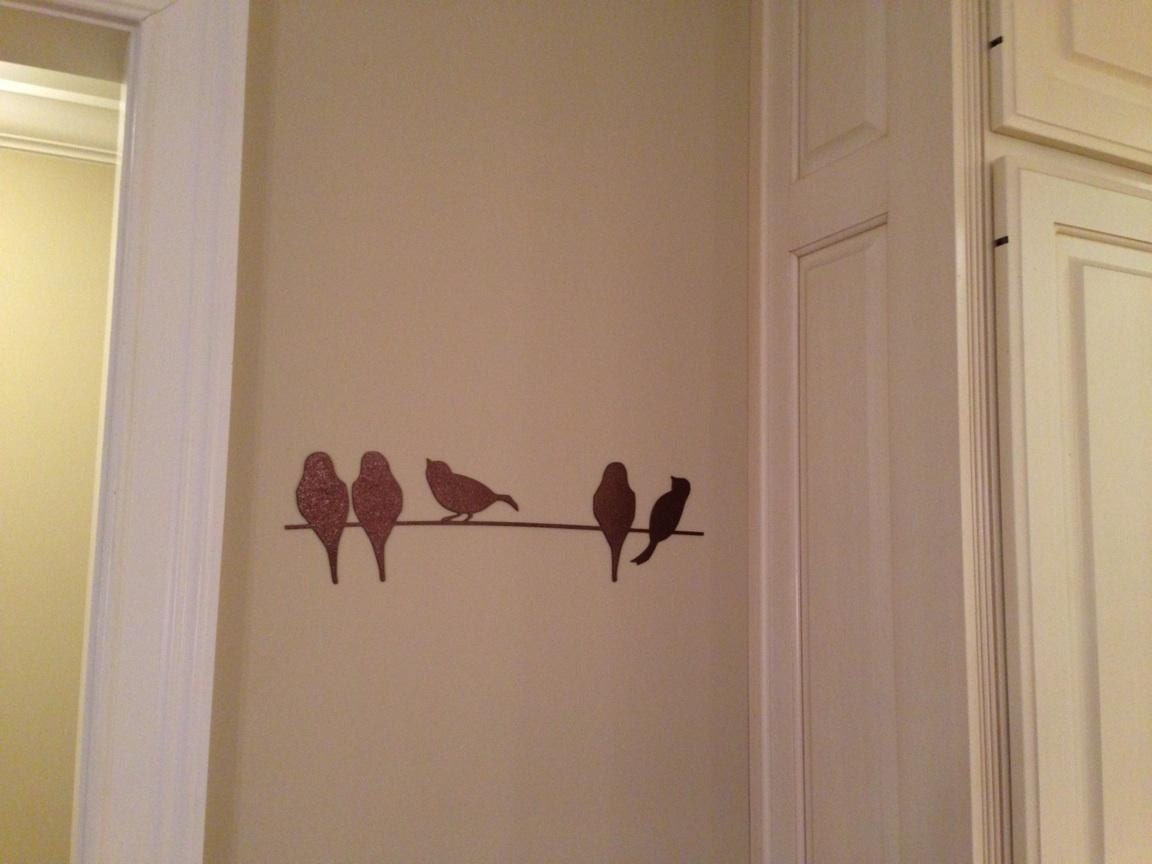 Birds Wire Wall Decor : Birds on a wire metal wall art
