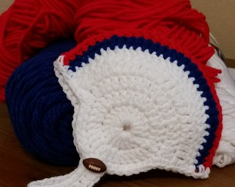 Crochet football helmet beanies in the color(s) of your choice
