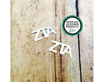Zeta Tau Alpha Letter Stud Earrings | Sorority Earrings | Zeta Tau Alpha Earrings | ZTA Earrings | Sorority Jewelry | Zeta Jewelry