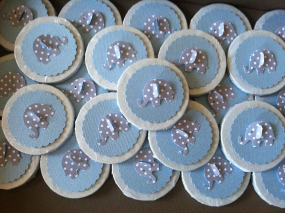 elephant chocolate baby shower favors or christening favors