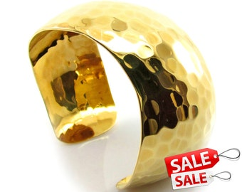 Gold Cuff Bracelet Gold Bracelet Cuff Hammered Brass Cuff Bracelet Brass Bracelet Cuff Wide Cuff Bracelet Gold Hammered Bracelet Cuff 026