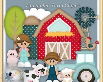 Fun at the Farm Clipart