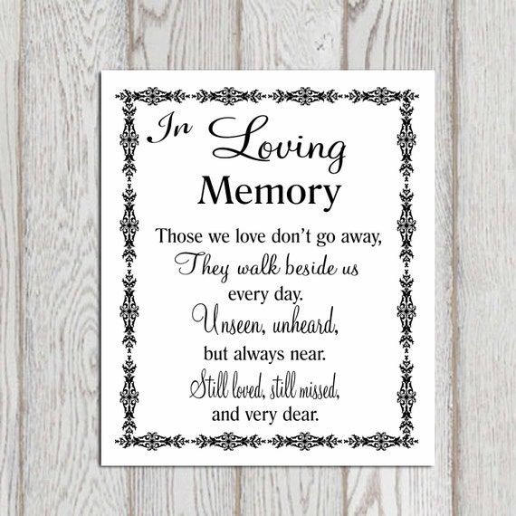 Wedding memorial table ideas for Table quotes