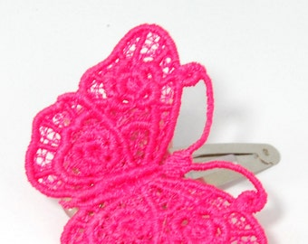 lace butterfly hairclip