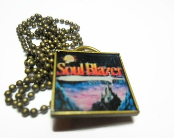 Soul Blazer video game necklace  - free size adjustments - super nintendo - retro video game jewelry - geeky jewelry