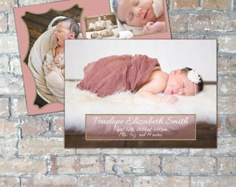 Glitter Birth Announcement {Boy or Girl} {Digital Item}