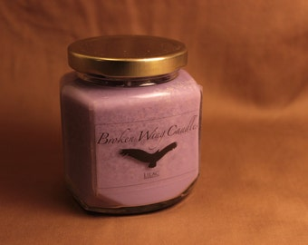 Lilac Soy Wax Candle, 8 oz.