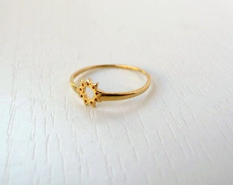 The most delicate and special nine pointed star ring ever known by anyone