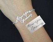 30% OFF! Signature Bracelet in Sterling Silver/Personalized Signature Bracelet/Handwriting/Keepsake Bracelet/Bridesmaid Gift/Mother Gift