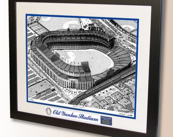 Old Yankee Stadium 1950's Art, former home of the New York Yankees