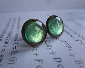 Gamma Ray - Earring studs - science jewelry - science earrings - galaxy jewelry - physics earrings - fake plugs - plug earrings - nebula