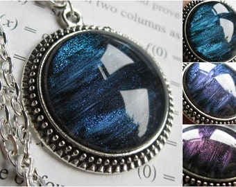 Ison - Circle Necklace - Science Jewelry - Galaxy Jewelry - Physics Jewelry - Planet Jewelry - Galaxy Necklace - Glass jewelry - Nebula