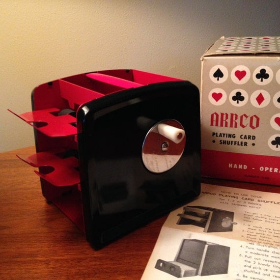 Vintage Arrco Hand Operated Playing Card Shuffler From The 60s