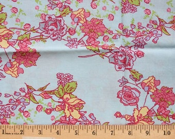 1/2 Yard - Paris Apartment - by Bari J  for Lecien - Pink, Yellow, Blue, Green Lavender - Quilting Weight Cotton Fabric - Yardage