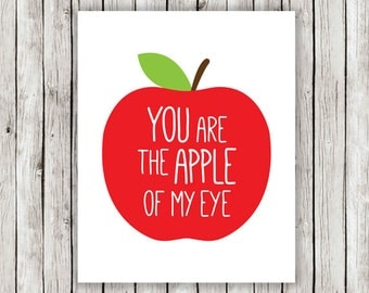 Popular items for you are the apple on Etsy