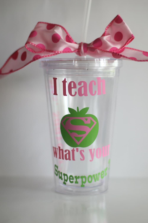 Christmas Teacher Gifts Personalized Teacher Cup I Teach