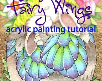 Fairy Wings quick painting acrylic fantasy art Tutorial