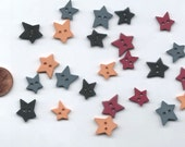 Matte Heritage Stars Novelty Buttons  Mixed Colors by Favorite Findings